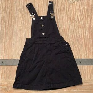 black h&m overall dress size 2